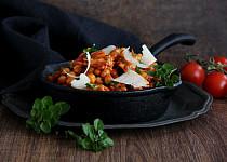 Cizrna s kuřecím masem po italsku