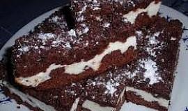 Kakaový drobenkový koláč