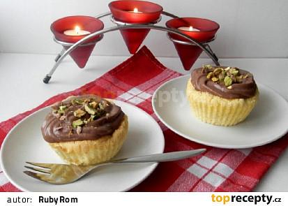 Košíčky s kakaovým krémem a pistáciemi