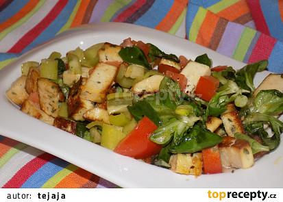 Medové tofu s polníčkem