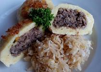 Plněné bramborové knedlíky - zabíjačkové