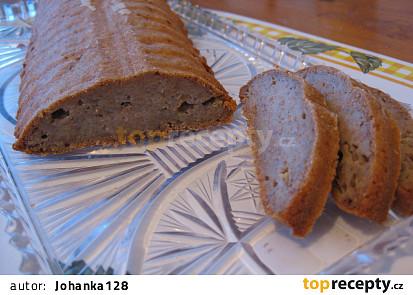 Špaldový banánovo-jablečný chlebíček (bez cukru, mléka a vajec)