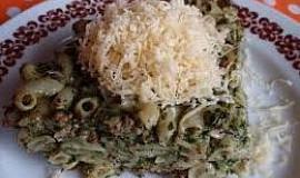 Špenátové těstoviny (nejen) s mletým masem