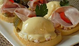 """Vajíčkové chlebíčky s majonézovým přelivem """"trochu retro"""""""