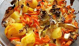 Zapečená zelenina s bramborem (bez tuku)