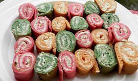 Barevné slané palačinky