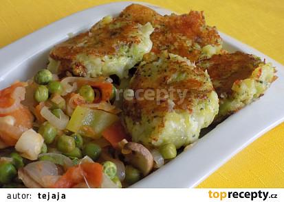 Bramborové koláčky s brokolicí