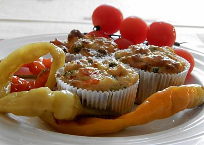 Bramborové muffíny se zeleninou