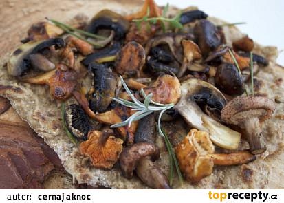Fermentovaná bramborová placka s houbami
