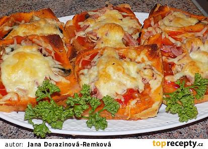 Fofr pizza z toustového chleba