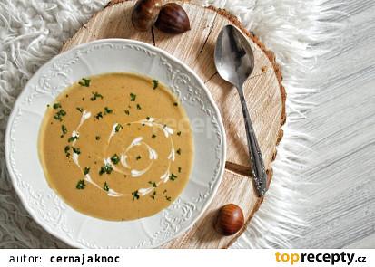 Kaštanová polévka (vegan)