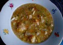 Květákovo-pórková polévka