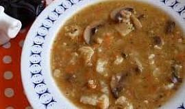 Květákovo-žampionová polévka