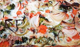 Slaný koláč s brokolicí (bez tuku)