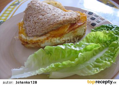 Vaječný sandvič ve formě (pečený v troubě)