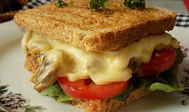 Žampionový sendvič