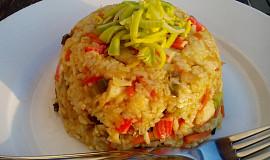 Zeleninové surimi tyčinky s rýží