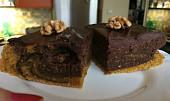 Dýňový koláč s čokoládovou polevou