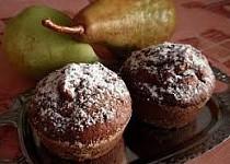 Hruškové muffiny s kakaem