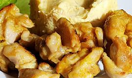 Pikantní křupavé kuřecí kousky s kurkumou (bez tuku)
