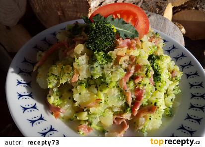 Šťouchané brambory (nejen) s brokolicí
