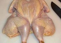 Kuře s křupavou kůžičkou a s bramborami