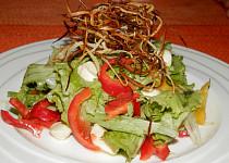 Ledový salát s mozarellou a opečenou petrželí