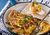 Nadýchaná omeleta se slaninou