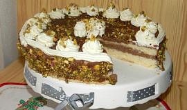 Piškotový dort s kakaovým krémem