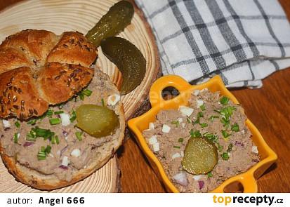 Pomazánka z hovězího masa s vejci