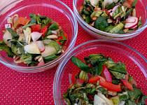 Zeleninový salát s polníčkem