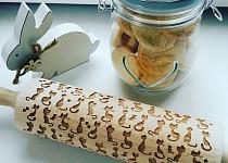 Mandlové embosované velikonoční sušenky
