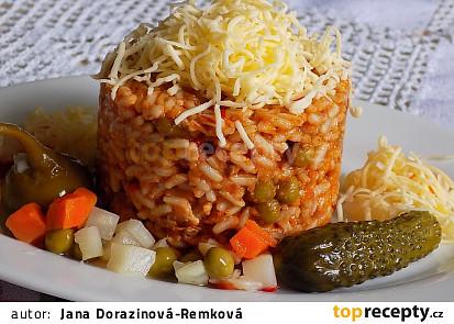 Srbské rizoto z vepřové plece
