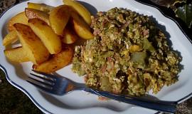 Brokolice (květák) se sýrem a slaninou à la mozeček