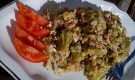Brokolice s rýží z jedné pánve