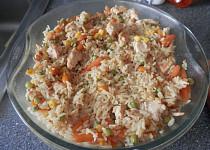 Kuřecí rizoto vařené v mikrovlné troubě