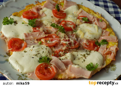 Obložená bramborová omeleta