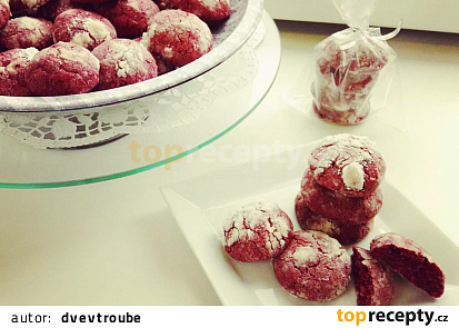 Red Velvet Crinkle Cookies neboli Popraskané sušenky