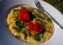 Vaječná omeleta (nejen) s medvědím česnekem