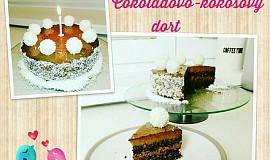 Zdravý čokoládovo-kokosový dort bez cukru a mouky