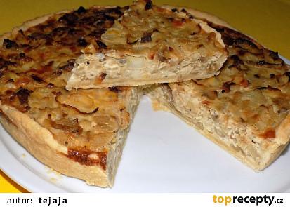 Cibulový koláč s ovčím sýrem