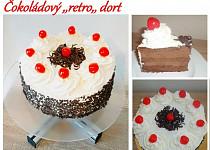 """Čokoládový """"retro"""" dort"""