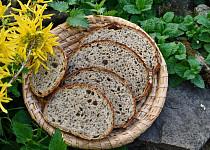 Jarní kváskový chleba s kopřivami