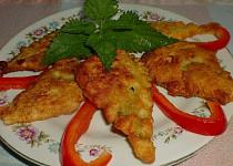 Kopřivové listy v sýrovém těstíčku