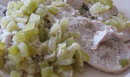Krůtí plátky s řapíkatým celerem