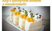 Řezy s tvarohovým krémem a mandarinkami
