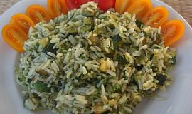 Rýžový salát s cuketou a pestem