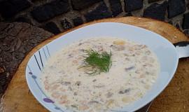 Bílá polévka s hlívou a fazolemi