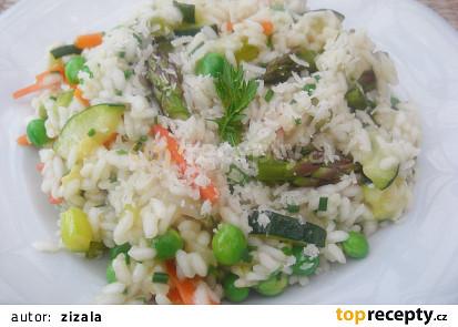 Italské jarní rizoto (Risotto primavera)