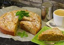 Rebarborový koláč s kukuřičnou moukou